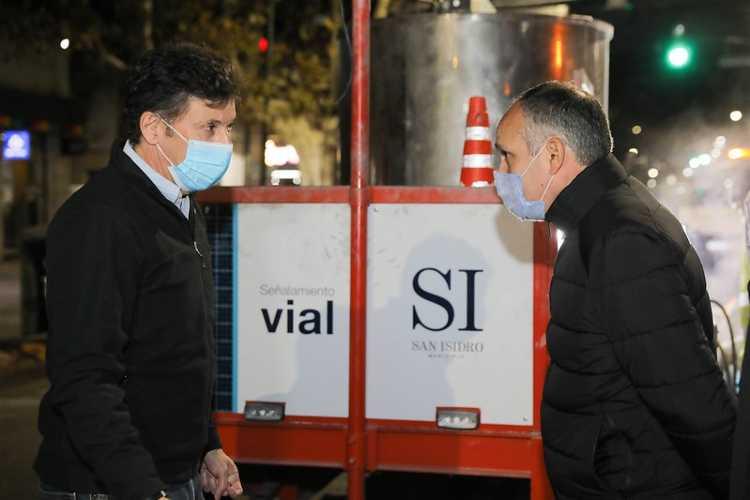 San Isidro: mejoras y mantenimiento en el señalamiento vial de Avenida de Mayo