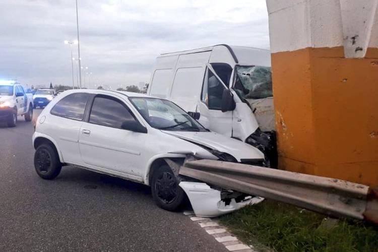 Dos muertos tras un choque en la autopista Panamericana a la altura de Campana