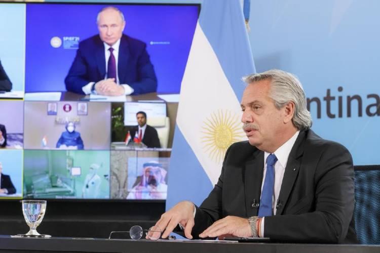 Alberto Fernández y Vladimir Putin anunciaron el inicio de la producción de la vacuna Sputnik V en Argentina