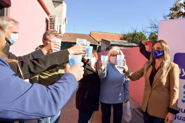 Tigre: Malena Galmarini inauguró una nueva red de agua potable para más de 7300 vecinas de los barrios La Bota y San Patricio
