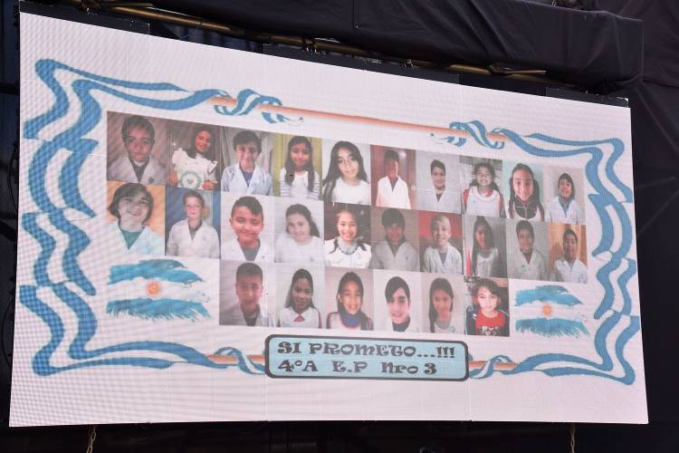 Estudiantes de Tigre realizaron la promesa virtual a la Bandera Nacional