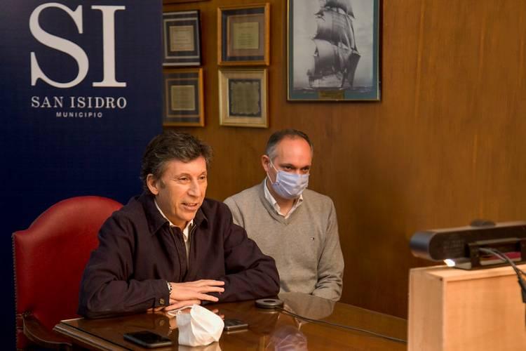 Posse habló con vecinos sobre la actividad comercial en San Isidro durante la pandemia