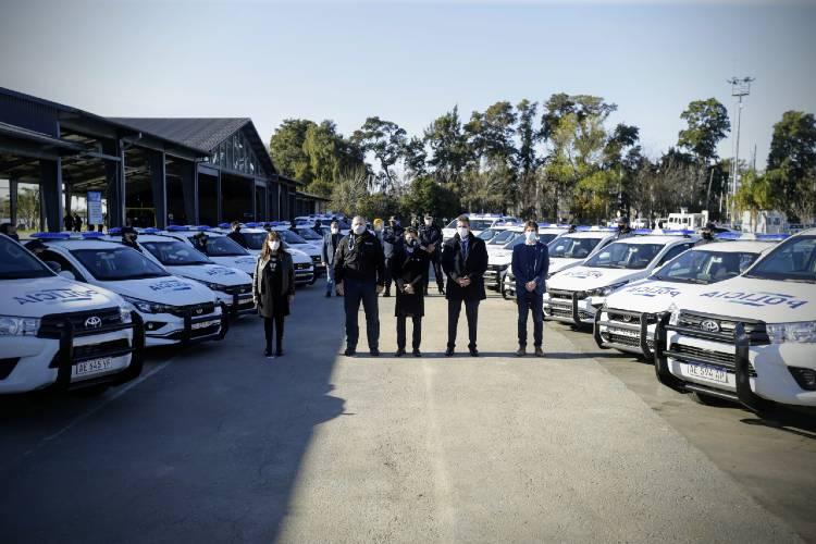 La Provincia puso en marcha 27 nuevos patrulleros para San Fernando