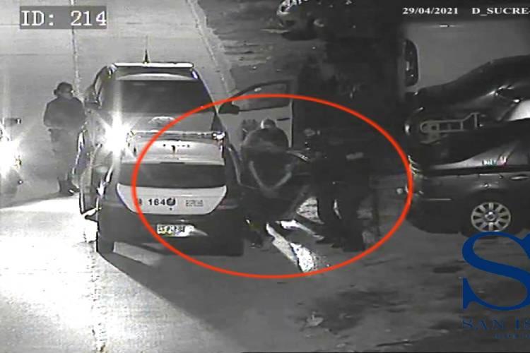 San Isidro: Abrió el capot de un auto, quiso robar la batería y lo detuvieron