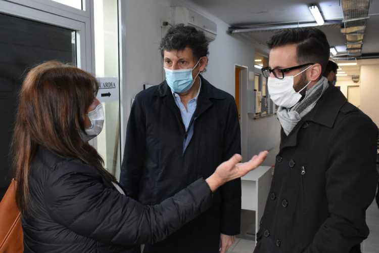 Funcionarios provinciales recorrieron obras de salud en San Isidro