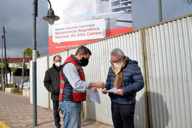 Julio Zamora recorrió la obra donde se instalará el equipamiento, que se integrará al Hospital de Diagnóstico Inmediato de Don Torcuato