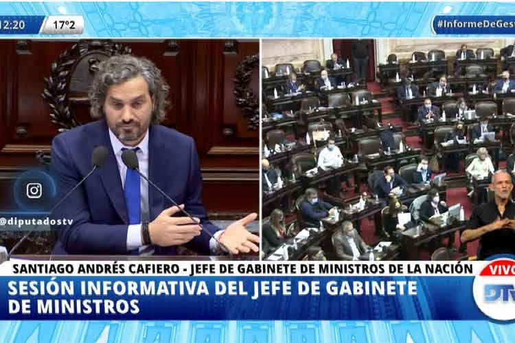 Santiago Cafiero expone su informe de gestión ante la Cámara de Diputados