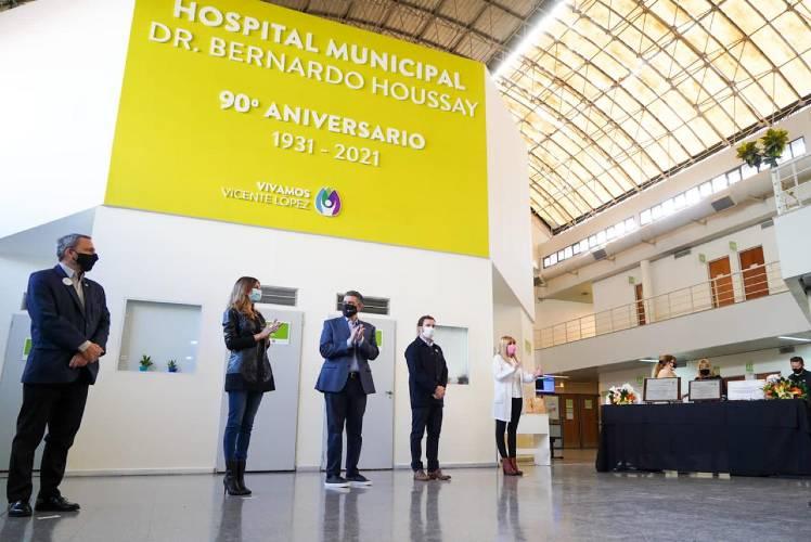 Vicente López conmemoró los 90 años del Hospital Bernardo Houssay