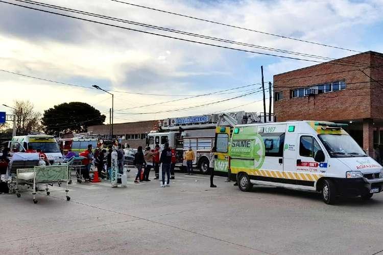 Un incendio en el Hospital de Pacheco provocó que varios pacientes fueran evacuados
