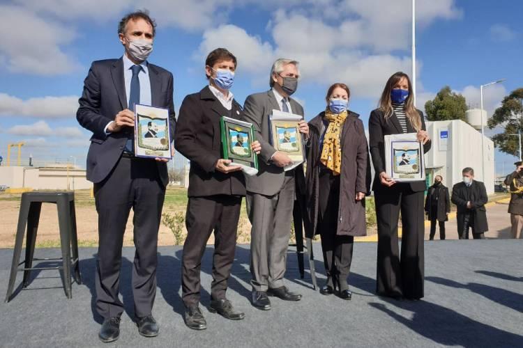 "Alberto Fernández inauguró la Planta Depuradora de AySA ""Presidente Perón"""