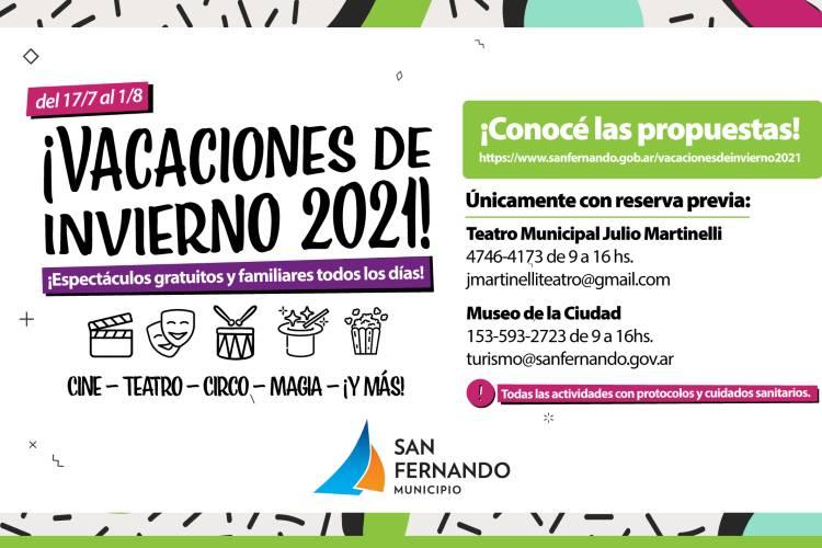 Vacaciones de Invierno en San Fernando: Actividades para realizar este 2021