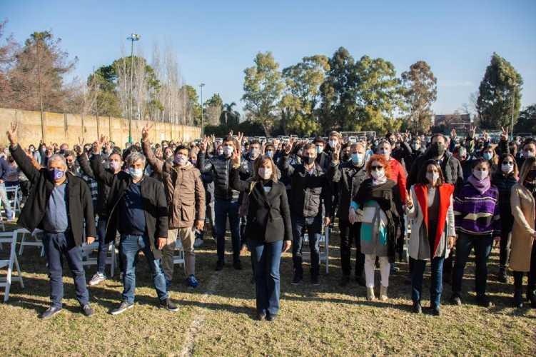 Malena Galmarini encabezó el plenario del Frente de Todos en Tigre