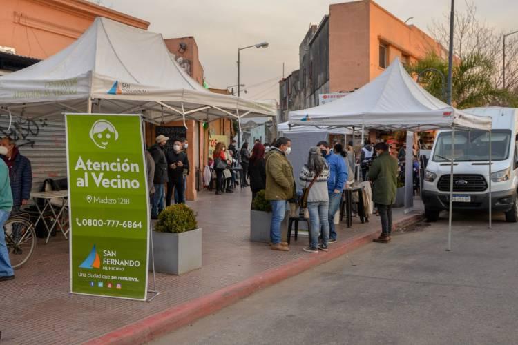 Se realizó en Canal San Fernando una nueva jornada de vacunación contra el COVID-19