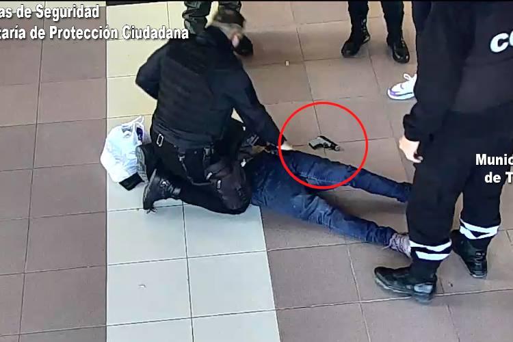 Armado robó en Rincón de Milberg y fue detenido en la Estación de Trenes de Tigre