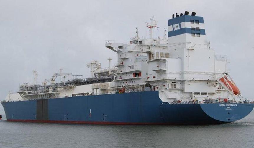 El Hoegh Esperanza es un buque metanero proveniente de Brasil