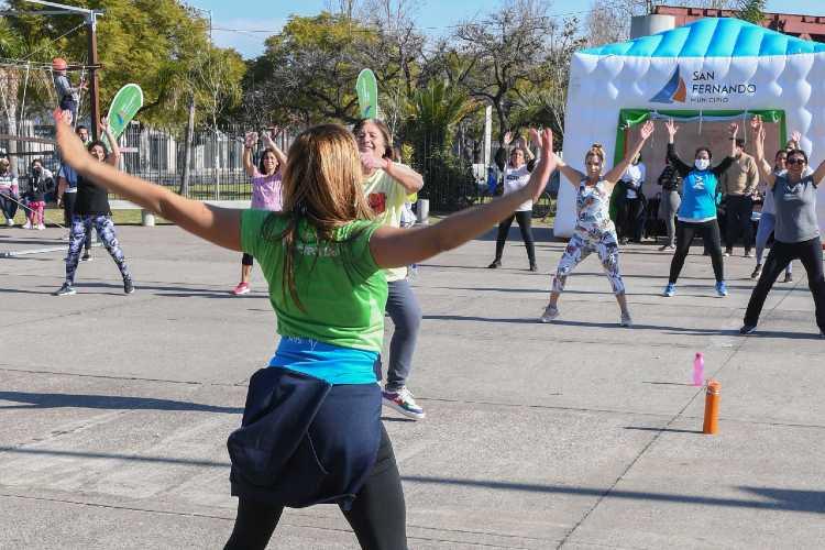 actividades recreativas y deportivas en distintos puntos de San Fernando