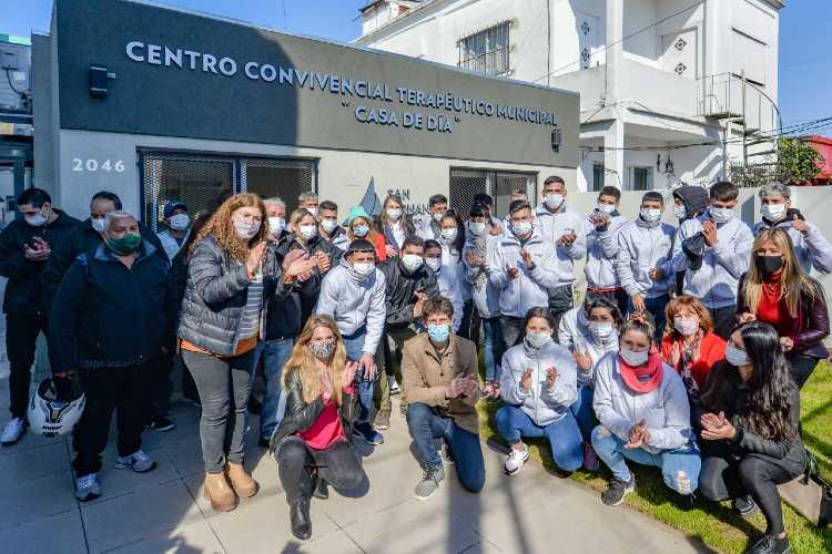 """Se inauguró en San Fernando la renovación de la """"Casa de Día"""" para jóvenes contra las adicciones"""