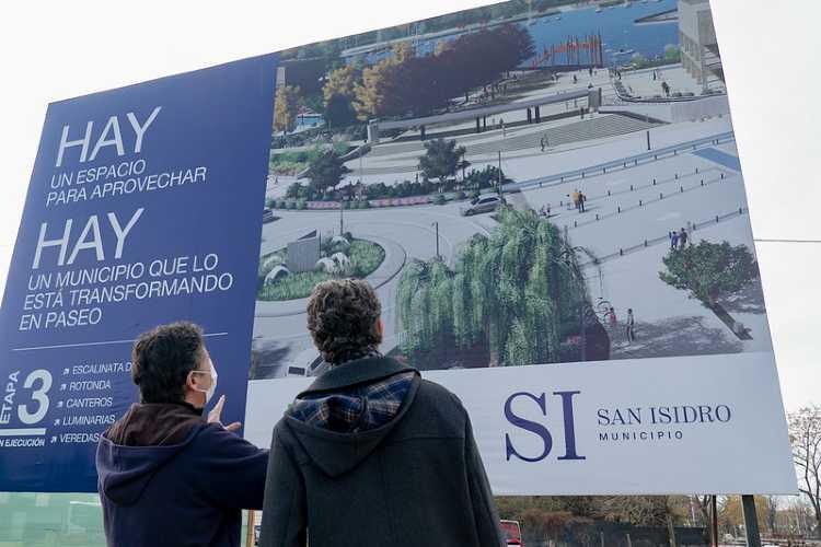 San Isidro avanza con las obras en el Parque Público del Puerto