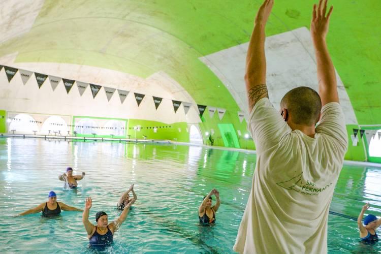 San Fernando retomó las actividades de Pileta en todos los Polideportivos