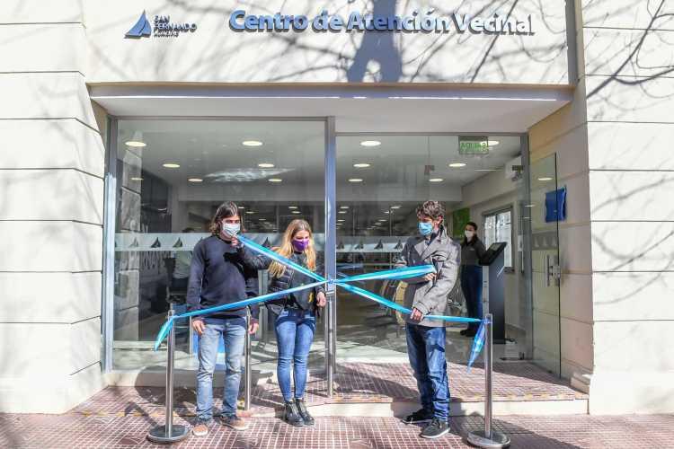Juan Andreotti inauguró el nuevo Centro de Atención Vecinal de San Fernando