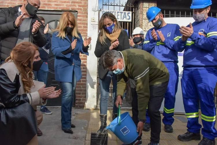 Malena Galmarini inauguró una red cloacal que beneficiará a 11.000 vecinas y vecinos de Sarandí en Avellaneda