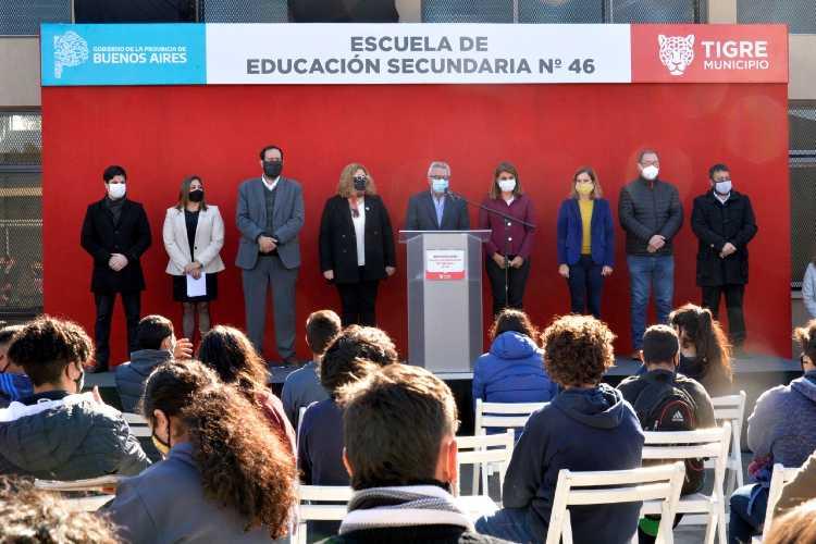 El municipio de Tigre inauguró la escuela secundaria N°46 del barrio Las Tunas