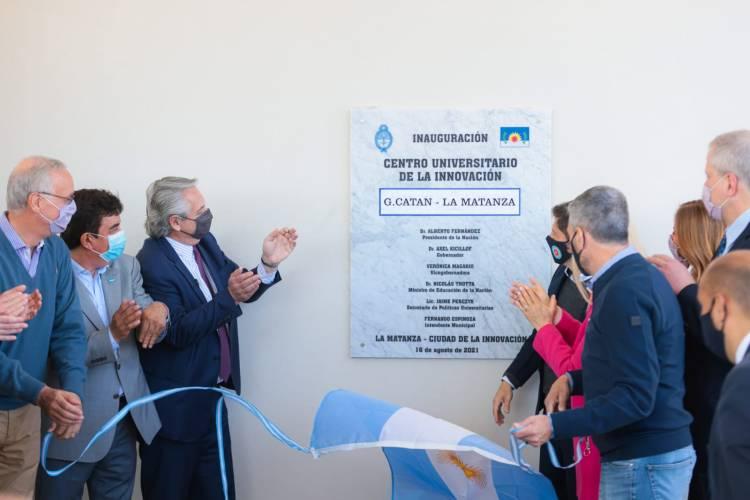 El Presidente puso en marcha el Centro Universitario de la Innovación de La Matanza