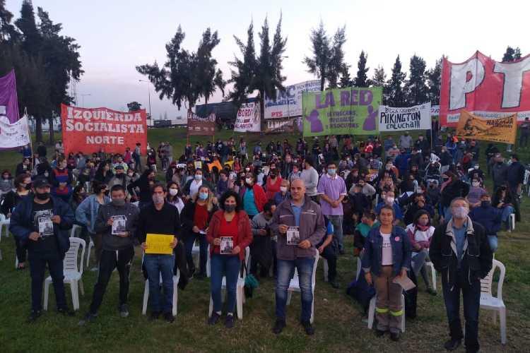 Con un acto sobre la Panamericana la izquierda propuso la reducción de la jornada laboral a 6 horas
