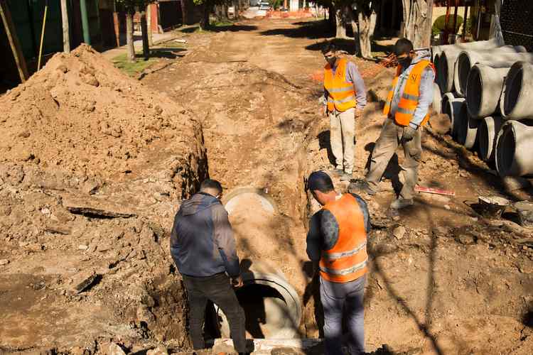 San Isidro construye un nuevo desagüe en Beccar para evitar anegamientos
