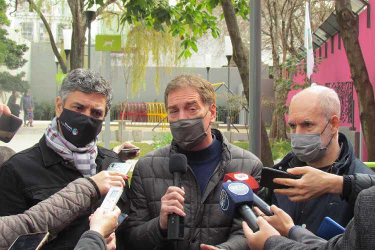 Jorge Macri recorrió Vicente López junto a Santilli y Larreta