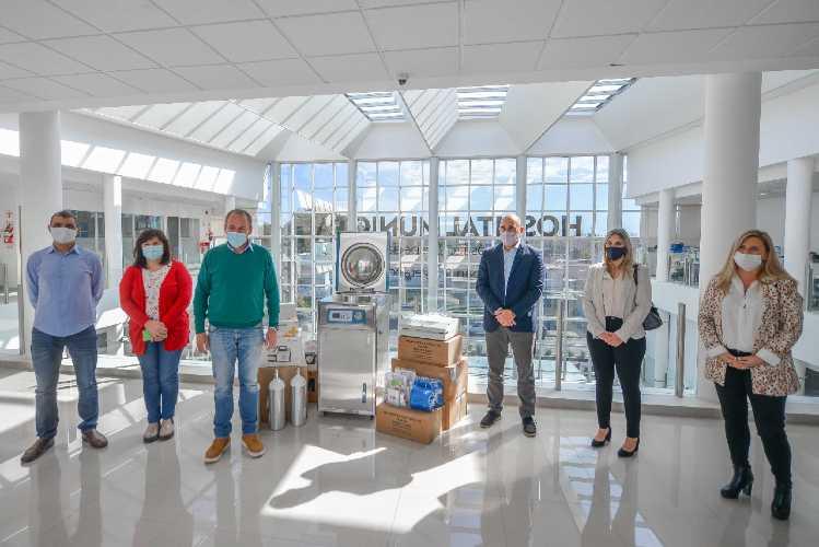 El Hospital Municipal de San Fernando recibió una nueva donación del Banco Galicia para equipamiento