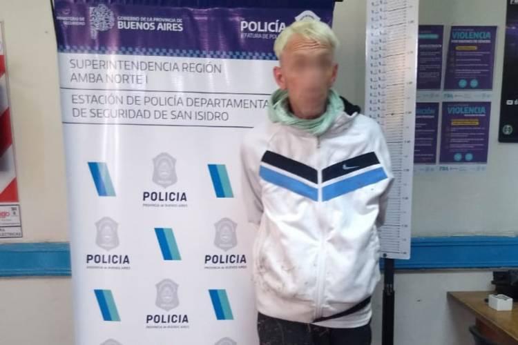 Detuvieron a un hombre que robó en dos comercios de San Isidro