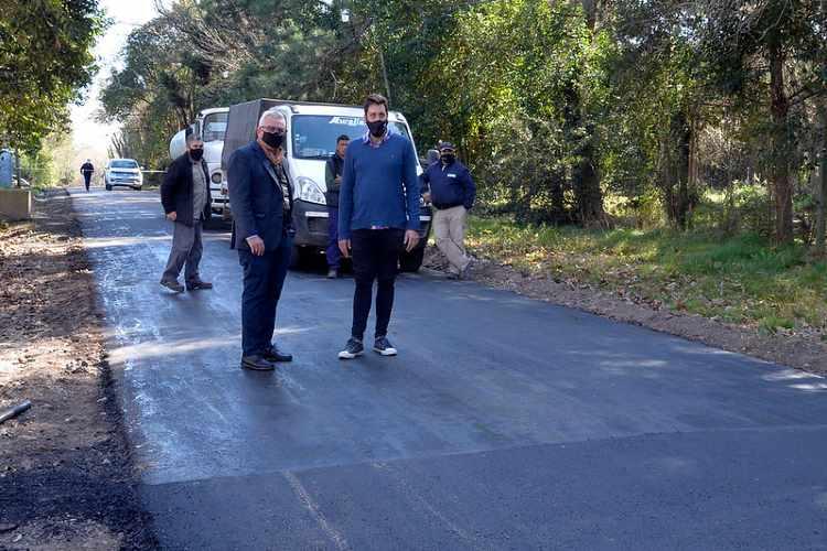 Julio Zamora destacó la pavimentación de la totalidad de las calles del barrio Quintas de Benavídez