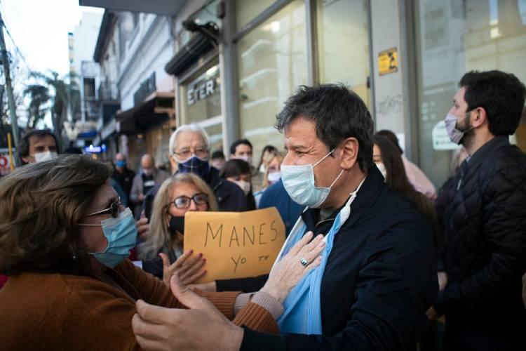 """Manes en Vicente López: """"Los argentinos están cansados de votar maquinarias políticas"""""""