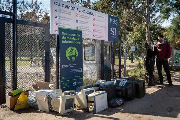En San Isidro se juntaron 500 kilos de residuos electrónicos
