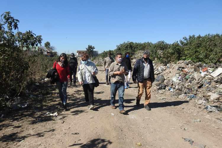 OPDS y OPISU relevaron basural a cielo abierto en San Martín