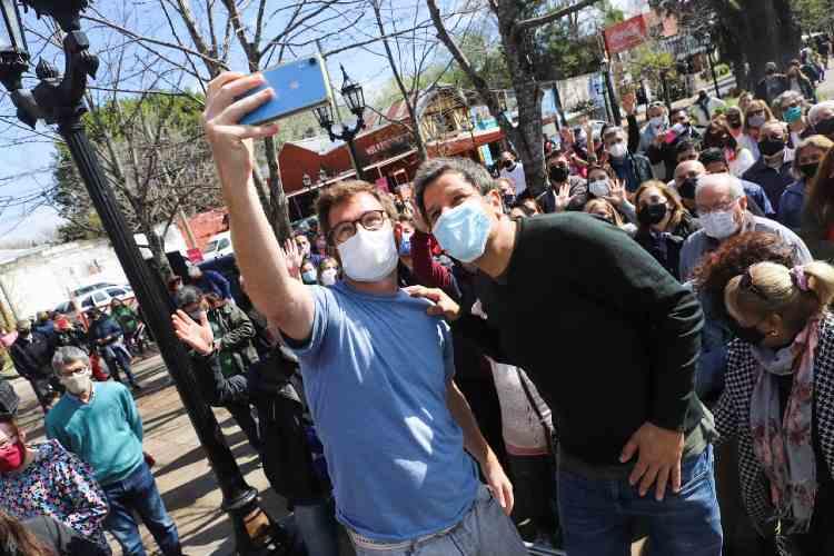 Nicolás Massot y Facundo Manes en Tigre