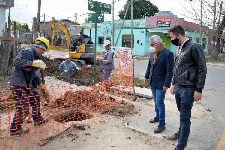 Tigre avanza con el tendido de gas natural en Benavídez norte