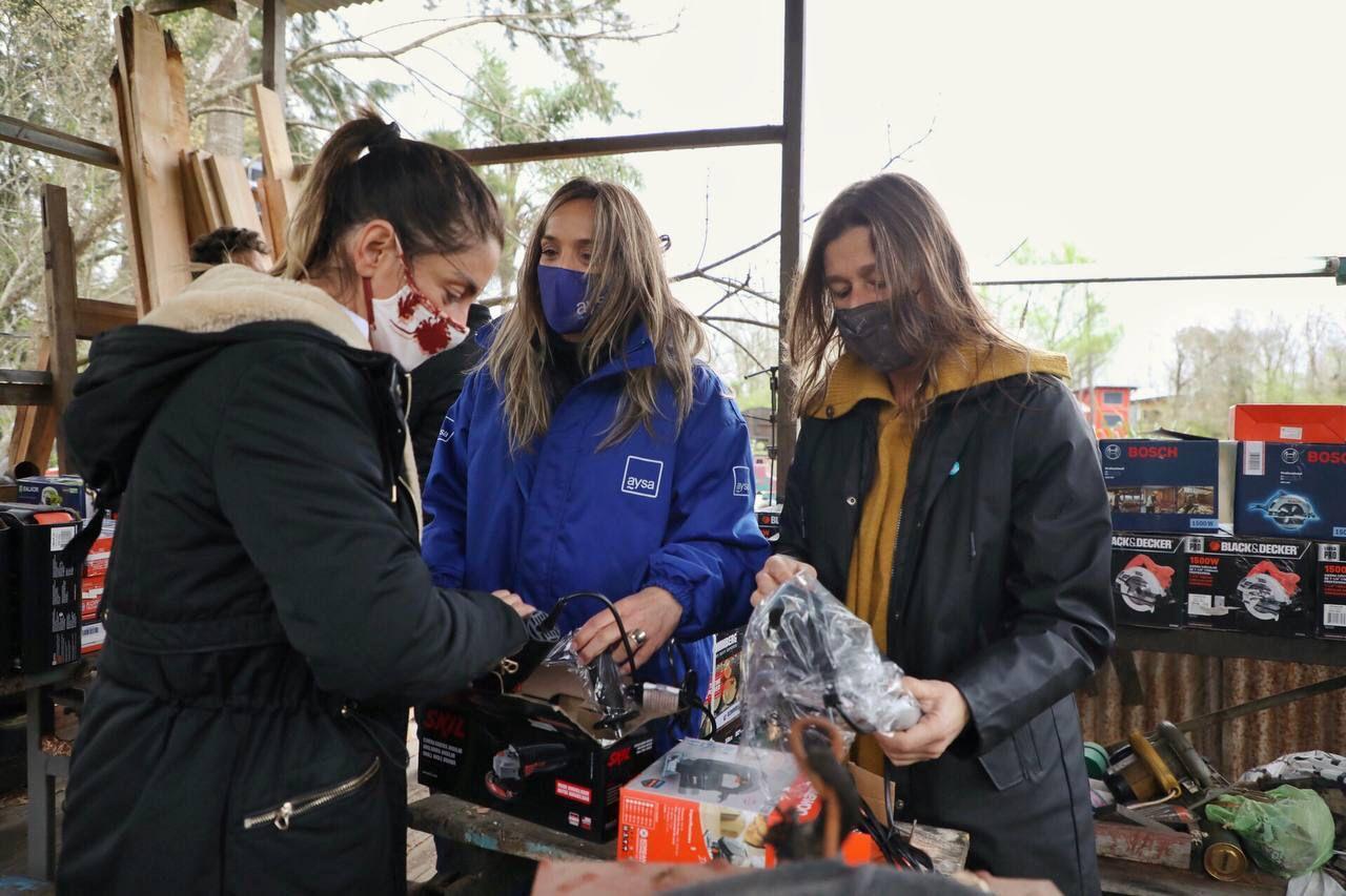Zabaleta, Frederic y Galmarini visitaron proyectos productivos el Delta de Tigre