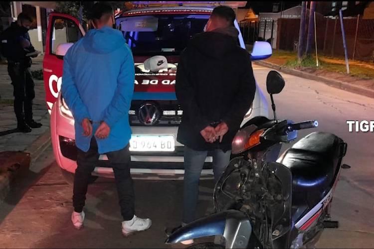 Las cámaras de Tigre los registraron huyendo con una moto robada y fueron detenidos