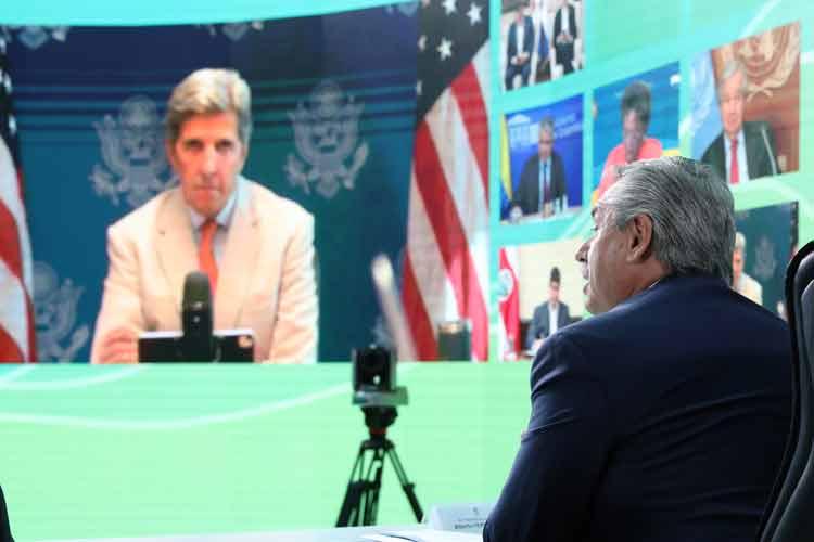 Alberto Fernández en la apertura de la Cumbre Latinoamericana sobre Cambio Climático