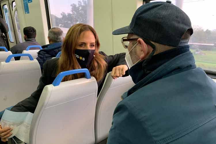 """Tolosa Paz: """"Santilli y Vidal no pueden tomarse el tren Roca y mirar a los ojos a los trabajadores"""""""