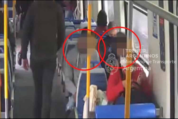 Los detienen tras robar un celular en la estación San Isidro