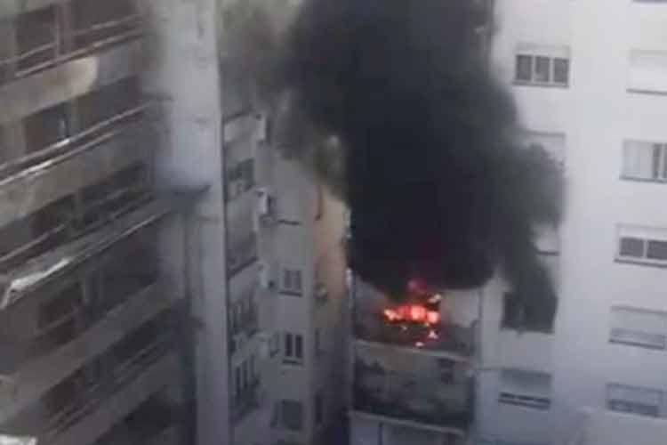 El incendio de un departamento en Belgrano causó alarma entre los vecinos