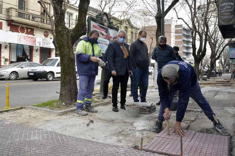Avanza la construcción de nuevas veredas en Tigre Centro