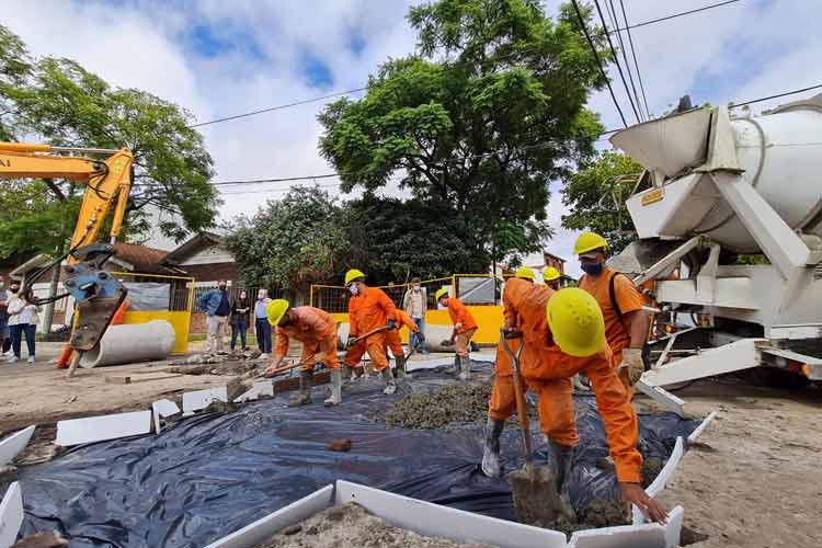 Vicente López avanza con obras para prevenir inundaciones en Florida Oeste