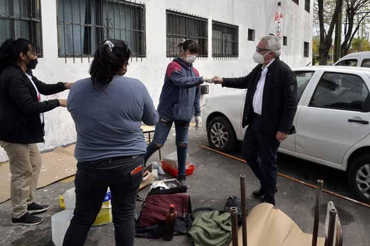 Julio Zamora supervisó obras de infraestructura escolar y luminarias en Ricardo Rojas