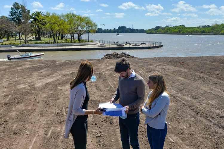 Avanza la ampliación del Parque Náutico de San Fernando con 2 hectáreas recuperadas frente al río