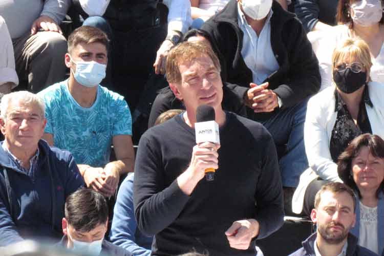 Santilli y Manes relanzaron la campaña con un acto en Tigre