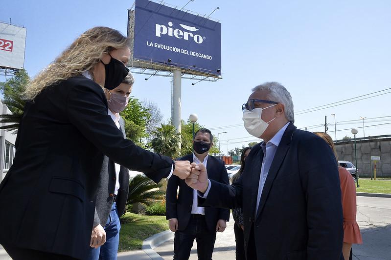Julio Zamora visitó la planta de la empresa Piero y destacó el acompañamiento del Municipio al sector productivo local